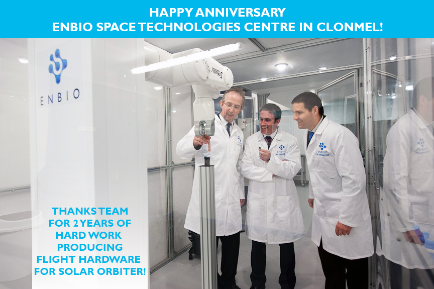 Happy Anniversary to the ENBIO Space Technologies Centre in Clonmel!