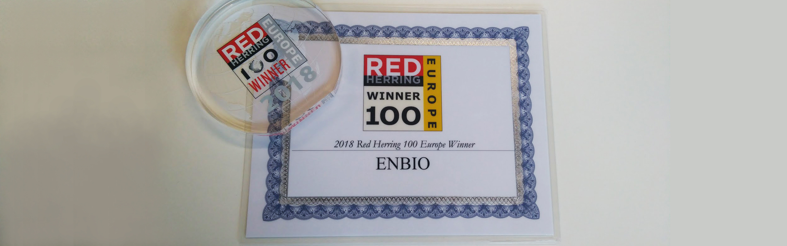 ENBIO chosen as a 2018 Red Herring Top 100 Europe Winner
