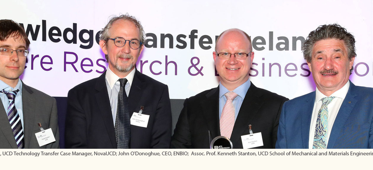 "Knowledge Transfer Ireland Awards 2018 – UCD and ENBIO Secure the ""Collaborative Research"" Award"